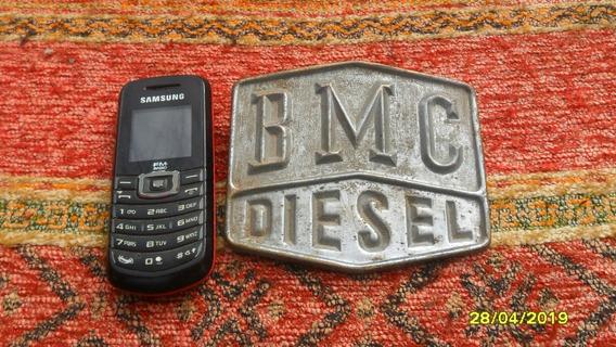 Antigua Insignia Ornamento Mascota Camión Bmc Diesel