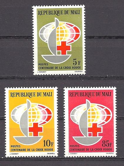 Estampillas Mali 1963 Centenario Cruz Roja Completa Mint