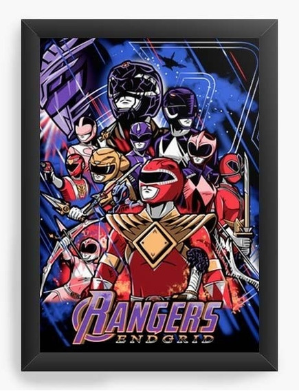 Quadro Decorativo Geekz Power Rangers