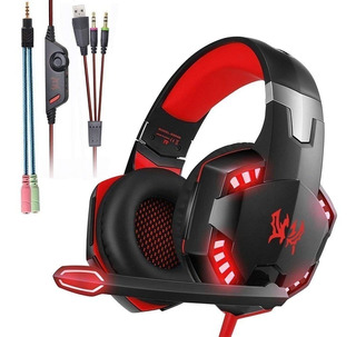 Auriculares Gamer Compatible Pc Ps4, Tablet Iluminacion Led
