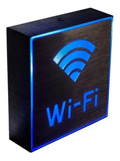Placa De Led Luminoso Digital Alumínio Wifi Sinalização