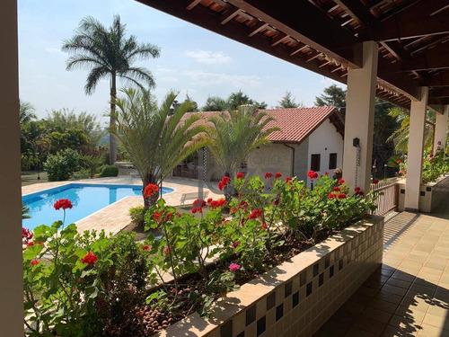 Maravilhosa Chácara Com 5 Dormitórios À Venda, 5000 M² Por R$ 3.000.000 - Recanto Das Flores - Indaiatuba/sp - Ch0497