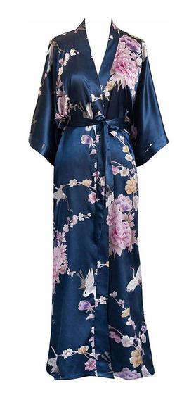 Kim + Ono Kimono Long Robe Mujer - Crisantemo Y Grulla