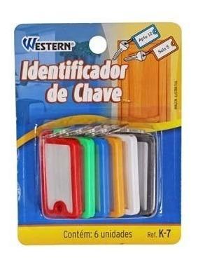 Kit Com 6 Chaveiros Western P/ Identificação Molho De Chaves