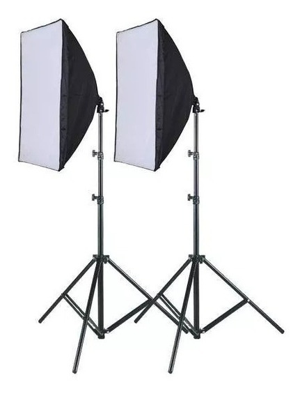 Kit Youtuber Luz Contínua Soft Box 50 X 70 + Tripe 2m Bolsa