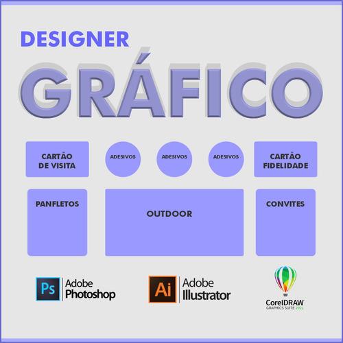 Imagem 1 de 1 de Designer Gráfico / Cartões / Panfletos / Flyers