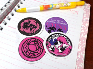 Set De 4 Stickers Circulares Anime Revolutiobary Girl Utena