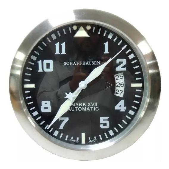 Relógio De Parede Decorativo Grande Calendário Aço Mark Xvii