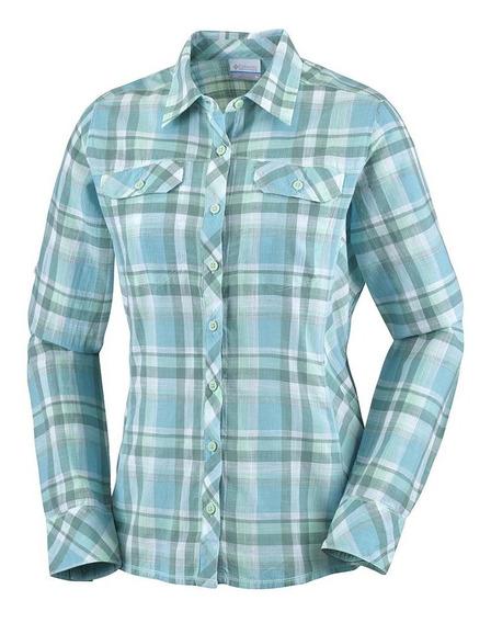 Camisa Columbia Dama Camp Henry Long Sleeve Shirt