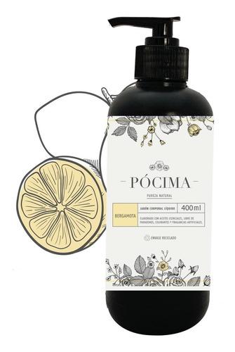 Jabón Líquido Pócima, Aceite Esencial Bergamota.  400ml
