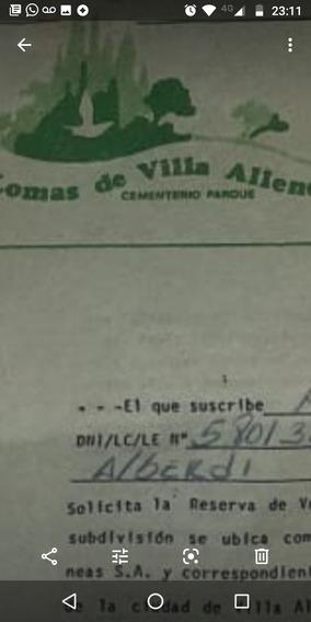 Vendo Parcela En Cementerio Parque Lomas De Villa Allende
