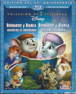 Bernardo Y Bianca 1 Y 2 Edición 30 Aniv Nac 2 Pel Bluray+dvd