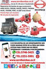 Reparación De Bomba De Agua Hino Em100,el100 Guatemala