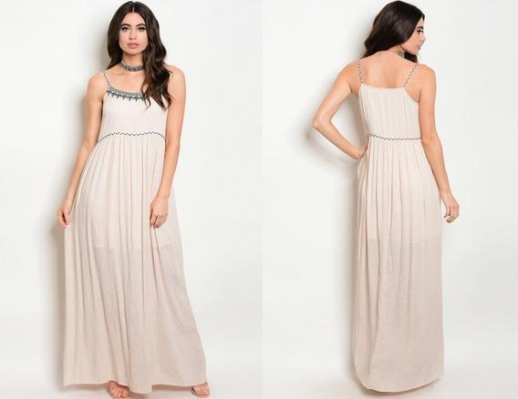 Vestidos De Fiesta Largos Importado Espalda Encaje Bordada