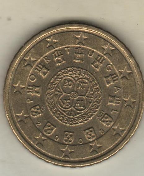 Portugal Moneda De 50 Eurocents Año 2008 Km 745 - Xf