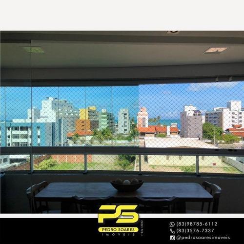 Apartamento Com 3 Dormitórios À Venda, 130 M² Por R$ 600.000,00 - Aeroclube - João Pessoa/pb - Ap4373
