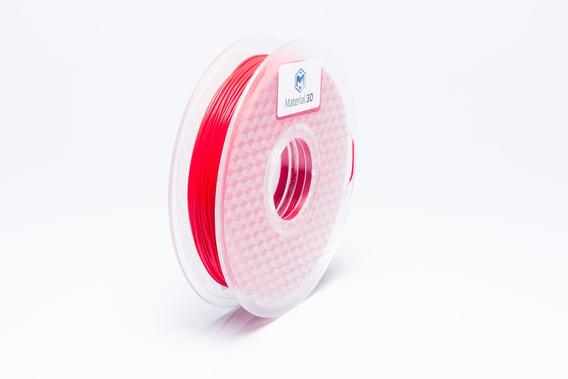 Filamento Tpu 1.75mm Flex Vermelho 500g Material 3d