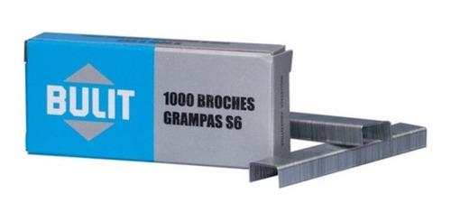 Imagen 1 de 2 de Grampas Bulit Para Engrampadora S6 6mm 1000 Unidades