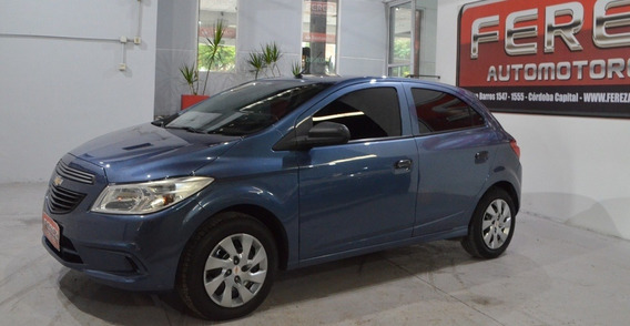 Chevrolet Onix 1.4 N Lt 2015 Gnc 5 Puertas Color Azul