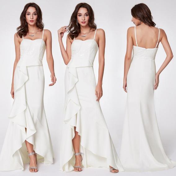 Vestido Novia Fiesta Egresadas Blanco Importado