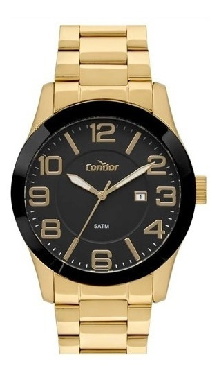 Relógio Dourado Masculino Condor Original Co2115kts/4p.