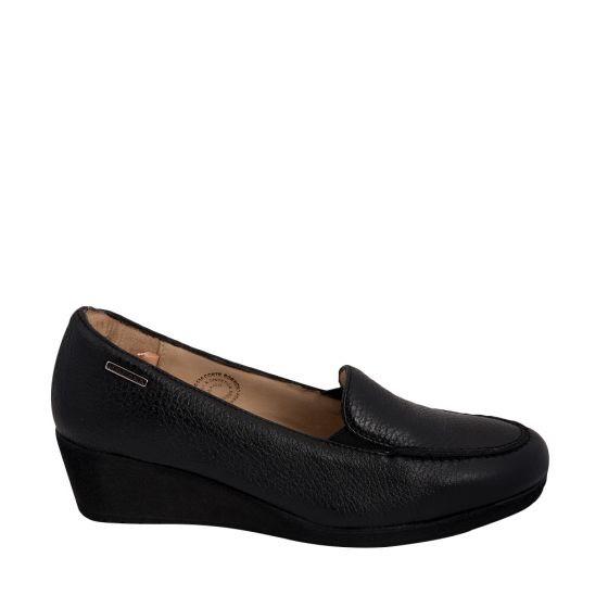 Zapato Cómodo Con Cuña Hispana 502 Para Dama Negro