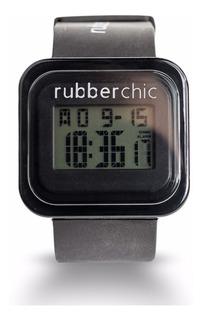 Reloj Digital Con Cronómetro Rubberchic Mini Box Negro