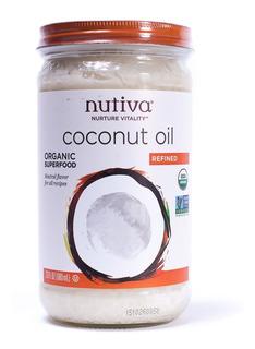 Aceite De Coco Orgánico Refinado Puro Natural Nutiva 680ml