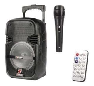 Bocina 8 Pulgadas Control Y Microfono Karaoke *soy Tienda*