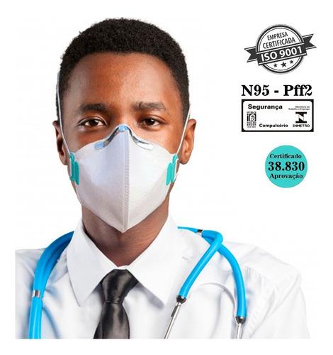 Imagem 1 de 10 de Kit 10 Máscaras N95 Proteção Respiratória Pff2