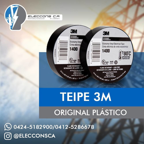Teipe 3m Goma Y Plastico 23 3m