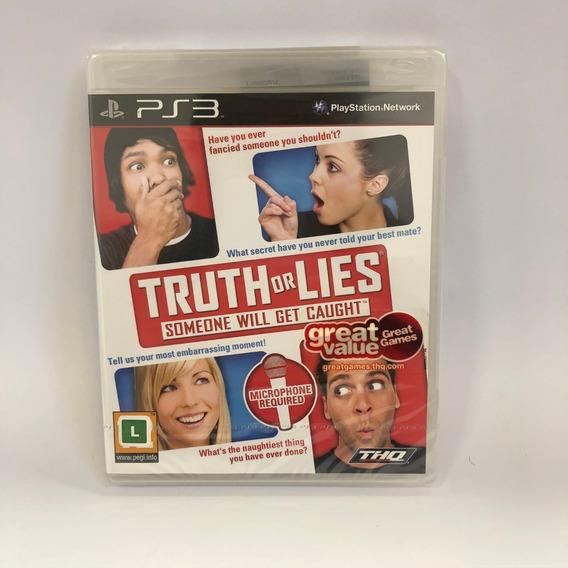 Truth Or Lies Ps3 Midia Fisica Lacrado