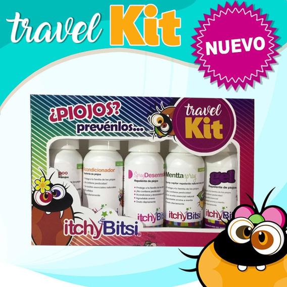 Piojos Viajes Itchybitsi Paquete Travel Kit