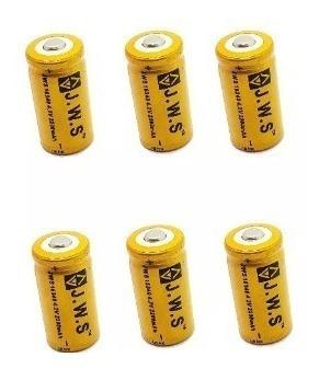 6 Bateria Cr123a Recarregável 16340 Jws A
