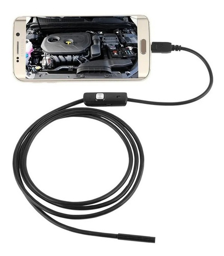 Imagem 1 de 9 de Micro Câmera Hd Endoscópica Usb Sonda Celular Android Pc