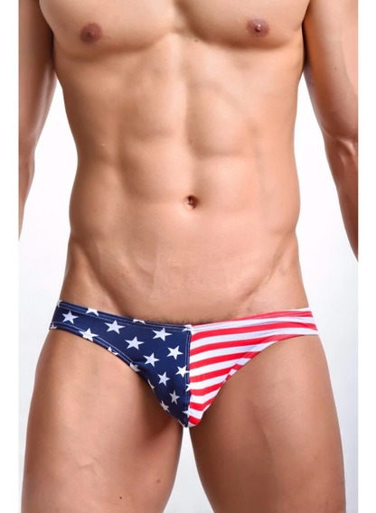 Trusa Bikini Slip Bandera Usa Barras Estrellas Ricardo Milos