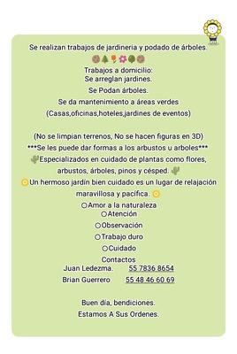 Jardineria A Domicilio (trabajos En Jardines Y Areas Verdes)