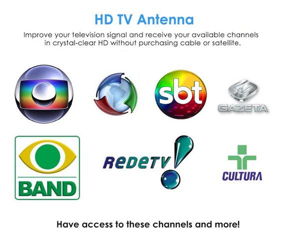 Mini Antena De Tv Canais Abertos De Tv High Definition