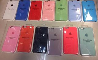 Funda Silicon iPhone 5 6 6s 7 8 Plus X Xs Max Xr Colores
