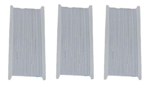 Elastico Bsq 6 Mm Pieza Blanco 10 Mts - Pack 3 Unidades