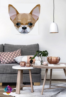 Vinil Decorativo Chihuahua Geometrico