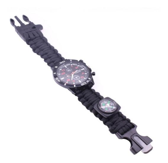 Reloj Militar Táctico Paracord De Supervivencia Para Hombre