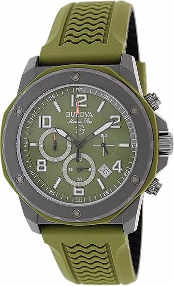 Relógio Bulova Cronógrafo Marine Star Verde Wb31783g