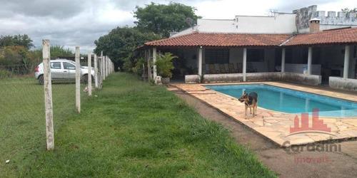 Chácara Com 2 Dormitórios À Venda, 3000 M² Por R$ 500.000,00 - Chácaras De Recreio Represa - Nova Odessa/sp - Ch0142