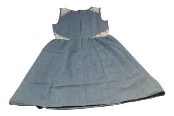 Vestido Azul Con Encaje, Talla Eg. That´s It!.