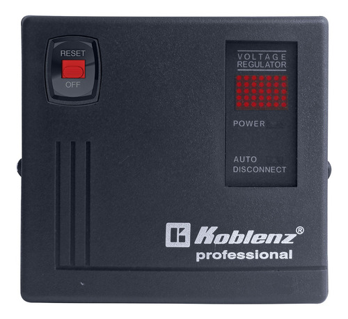 Regulador de voltaje Koblenz Gold ER-2550 2500VA entrada y salida de 120V negro