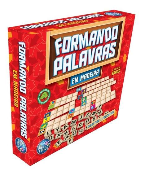 Jogo Formando Palavras Em Madeira - Pais & Filhos
