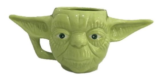 Caneca Formato 3d Mestre Yoda Star Wars Galaxia 400ml