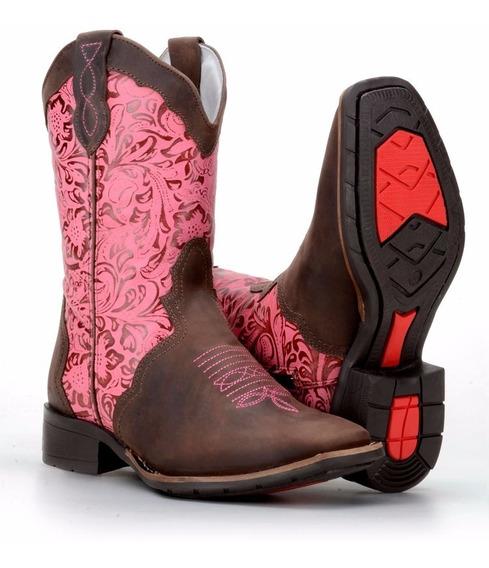 Bota Feminina Country Texana Bico Quadrado Confort Capelli