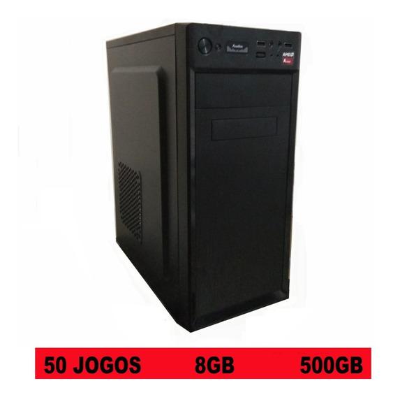 Pc Cpu Gamer Barato 8gb Com 50 Jogos 3.8 Ghz Cs Go Pes Lol